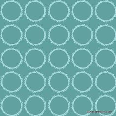 Fabric... Blooming Lovely Circles in Aqua by Anthology Fabrics