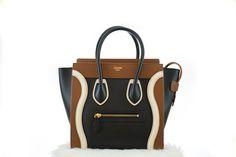 Céline 2015 Winter Collection  Tri-Color Micro Luggage