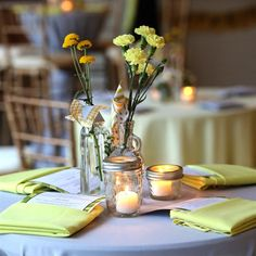 Yellow Carnation Centerpieces