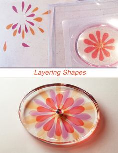 """The best way to add transparent color to your resin projects. Clean and easy, these coordinated films can be cut with scissors or punched with sharp paper punches. 9 different colors, 4 x 4"""" sheet of"""