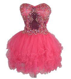 ... pink ruffle tutu corset beaded poofy short dresses