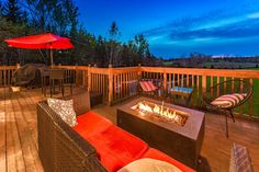 Outdoor Living | Outdoor Decor | Home Staging | Red Furniture | Patio Furniture Interior Decorating, Interior Design, Outdoor Living, Outdoor Decor, Home Staging, Home Organization, Ontario, Deck, Patio