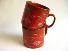 Vintage Pair Staffordshire Mugs  England by 20thCenturyEurope, €14.00