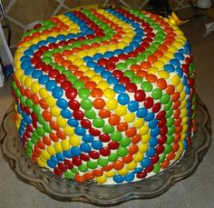 What a good idea! Imagine the pattern possibilities (and no fighting from the kiddos over which piece is best since every square inch is covered in candy!).