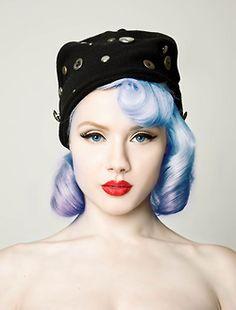 Purple Blue Short Hair