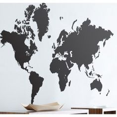 World map 11x17 absract products i love pinterest print ferm living world map wall sticker in black 2019 01 gumiabroncs Gallery