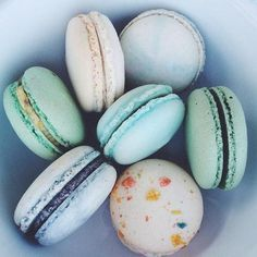 Pretty pastel french macaroons.