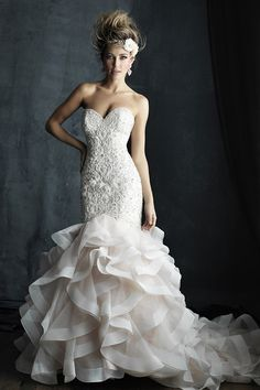 Wedding Dress by Allure Couture - Search our photo gallery for pictures of wedding dresses by Allure Couture. Find the perfect dress with recent Allure Couture photos. 2016 Wedding Dresses, Bridal Dresses, Wedding Gowns, Bridesmaid Dresses, 2017 Wedding, Lace Wedding, Wedding Venues, Prom Dresses, Allure Couture