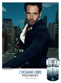 Benjamin Millepied for YSL L'Homme Libre - Pursuitist Yves Saint Laurent, Photo Star, Perfume Ad, Perfume Bottles, Best Fragrances, Male Photography, Male Face, Hollywood Actresses, Beautiful Men