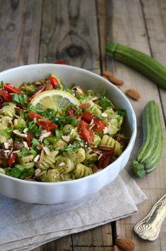 Pasta Al Pesto, Pot Pasta, Pasta Recipes, Cooking Recipes, Healthy Recipes, Frugal Meals, Quick Meals, A Food, Food And Drink