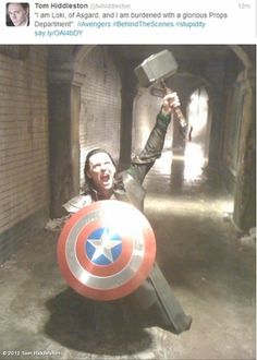 I am Loki of Asgard and I am burdened with a glorious props department.