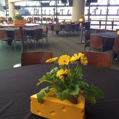 Cheesehead Centerpieces At Lambeau Field Go Packers Football Art