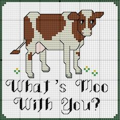 Cow Cross Stitch Pattern