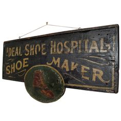 Folk Art Shoemaker Trade Sign
