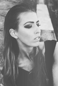 model, darkness, face, makeup, photo