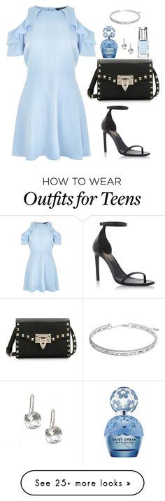 """""""Guest to a casual wedding"""" by hayleyl22 on Polyvore featuring Yves Saint Laurent, Valentino, New Look, Leighton Denny, Marc Jacobs and Anne Klein"""