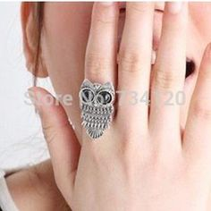 vintage Style (Bronze silver plated ) Owl Ring jewelry wholesale finger rings for women,free shipping♦️ B E S T Online Marketplace - SaleVenue ♦️👉🏿 http://www.salevenue.co.uk/products/vintage-style-bronze-silver-plated-owl-ring-jewelry-wholesale-finger-rings-for-womenfree-shipping/ US $0.31