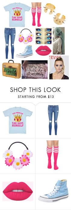 """""""Paige And Leah Bake A Cake For The Smackdown Live Women's Roster"""" by pie221153 ❤ liked on Polyvore featuring Frame, Hot Topic, Converse and WWE"""