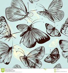 modelo-inconstil-de-la-mariposa-con-los-insectos-grabados-en-styl-del-vintage-51665479.jpg (1300×1390)