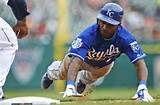 ; Kansas City Royals batter Jarrod Dyson ...
