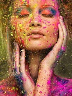 Fotoidee mit Holi Color Farben. Nachmachen garantiert!  #Fotoshooting