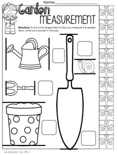 $ May Printable Packet - Kindergarten Literacy and Math. Measurement with non-standard units.