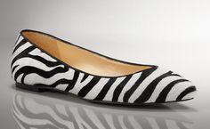 Zebra Flats. Love. For the crazy 80s girl inside me!
