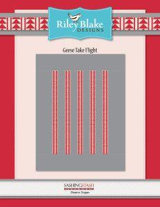 Geese Take Flight Quilt Pattern - Riley Blake Sashing Stash