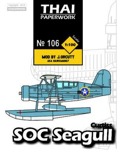 Curtiss SOC-2 Seagull Biplane Free Aircraft Paper Model Download