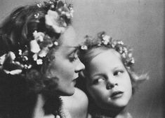 Marlene Dietrich with daughter, Maria Riva, 1930s