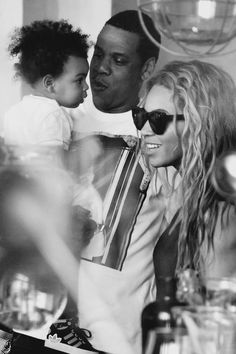 Beyoncé, her husband Jay-Z and her daughter Blue Ivy