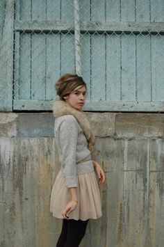 Cashmere Cardi/Fur Collar- you can get mint ones from the 50s at Ebay for under $50