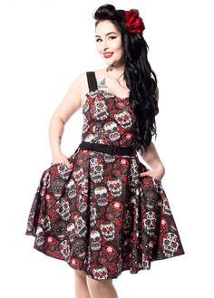 7d5644800a10 De 20 bedste billeder fra Plus Size Rockabilly kjoler