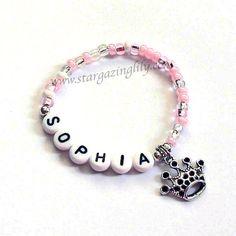 Cotillón princesa rosa personalizado para niños por stargazinglily