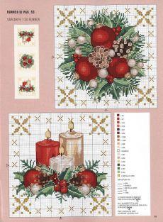 White roses | Букет голубых фиалок | Постила Xmas Cross Stitch, Cross Stitch Christmas Ornaments, Christmas Embroidery, Christmas Cross, Cross Stitch Charts, Cross Stitch Designs, Cross Stitching, Cross Stitch Embroidery, Cross Stitch Patterns