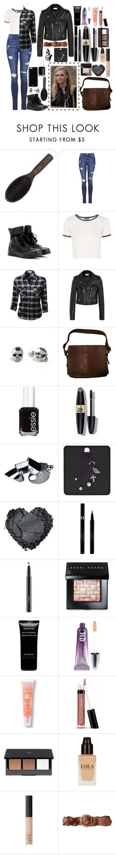 """""""Supernatural Style Steal: Claire Novak"""" by emmammh ❤ liked on Polyvore featuring Ibiza Hair, Topshop, Converse, Yves Saint Laurent, Kasun, Coach, Essie, Max Factor, Sisley and MAC Cosmetics"""
