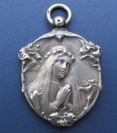 Art Nouveau French Confirmation Religious Medal by CherishedSaints, $168.00