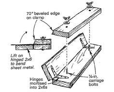 Sheet Metal Bender, Sheet Metal Brake, Welding Projects, Metal Crafts, Diy Wood Projects, Metal Bending Tools, Metal Working Tools, Wood Working, Pliage Tole