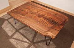 Urban Hardwoods Furniture - San Francisco, walnut slab coffee table