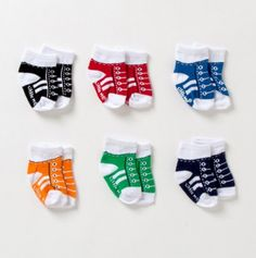 Oh little converse socks for babies. Great Gift Idea!