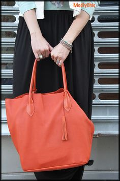 In LOVE with this orange Adora Bag!! #FashionistasAdora #sponsored