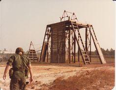 COSCOM rapelling tower.