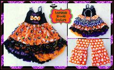 Fab-Boo-Lous!!! Adorable Halloween outfit from Mckenzie Brooke Couture! www.mckenziebrookecouture.com