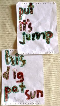 Learning new words- Made during Christmas season using christmas inspired pictures to form words