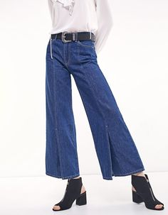 At Stradivarius you'll find 1 Wide leg jeans with front slit for just 29.99 United Kingdom . Visit now to discover this and more Jeans.