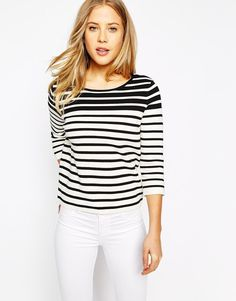 Oasis | Oasis Stripe Compact Top at ASOS