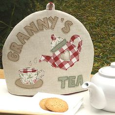 Personalised Tea Cosy for 'Sarah's Tea'! £41.50 notonthehighstreet