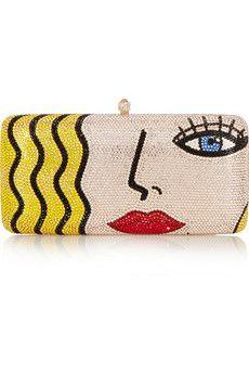 Sylvia Toledano X-Pop Girl Swarovski crystal-embellished clutch | NET-A-PORTER