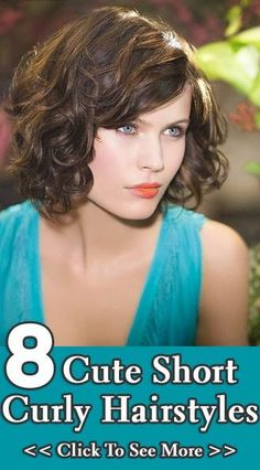 8 Hairstyles for Short Curly Hair  I so want this cut and color