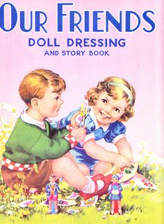 Our Friends Doll Dressing Book, large format published by Birn Bros., Ref. 560